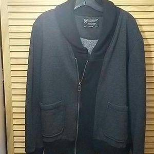 Mens Trendy MARC ECKO Gray/Black Sweater Size Med.